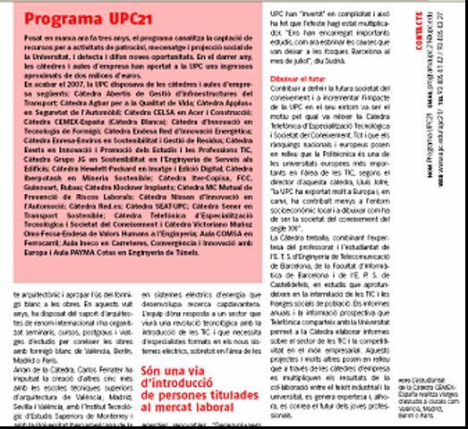 """""""Publicaciones institucionales: El efecto multiplicador de las cátedras."""" (/01/2008)"""
